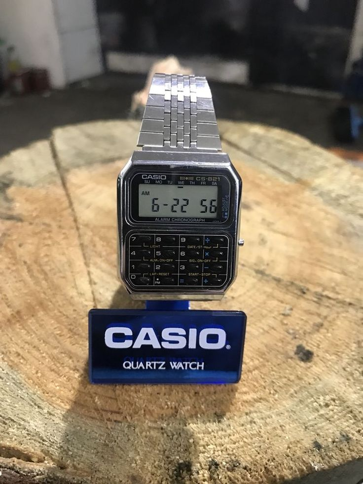 Casio CS-821 mod 231 calculator vintage very rare watch chronograph Japan 1982's  | eBay