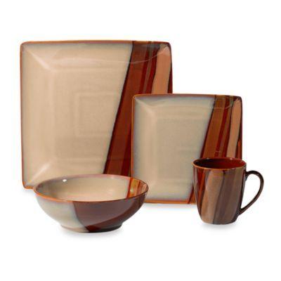 Sango Avanti Brown 16-Piece Dinnerware Set - BedBathandBeyond.com