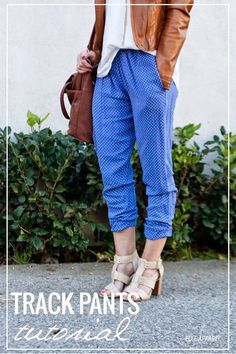 Free Pants Sewing Pattern | You can DIY these cute track pants! For more fashion sewing tutorials and free patterns, check out http://www.sewinlove.com.au/free-sewing-patterns/
