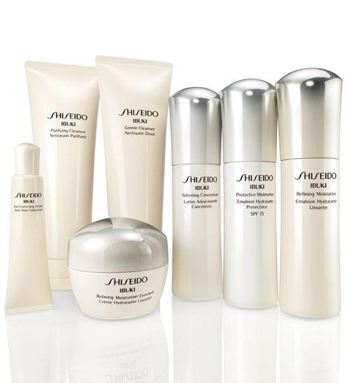 Shiseido Ibuki  Skincare . Anti Agin for younger looking skin , stress, Face Skin Resistance