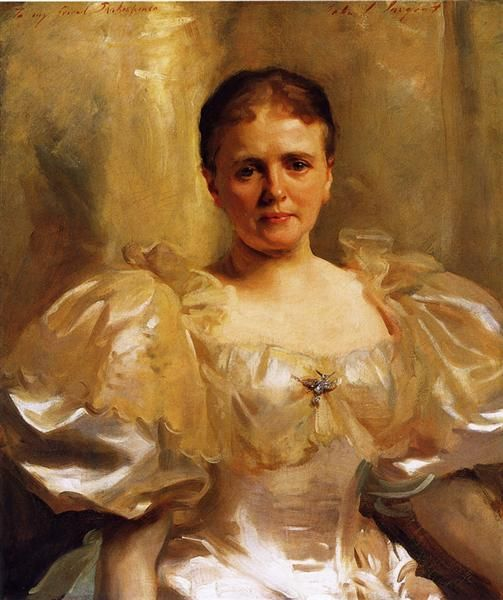 Mrs. William Shakespeare (Louise Weiland), 1896 by John Singer Sargent. Realism. portrait. Memorial Art Gallery (University of Rochester), Rochester, NY, US