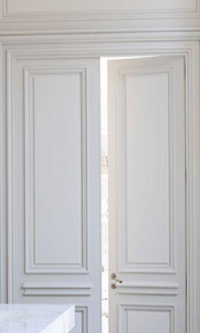High ceiling and double doors, Private Apartment in St Germain Des Prés, Paris by Joseph Dirand _