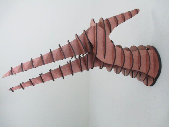 Cabeza de dinosaurio Pterodactyl medio por HeadsOnAWall en Etsy