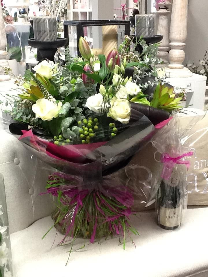 Luxury handtied flowers from The Rose House at McEwens #gift #flowers