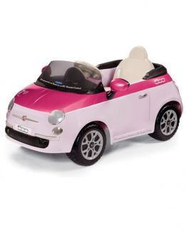 Электромобиль Fiat 500 розовый на р/у Peg-Perego (Пег-Перего)