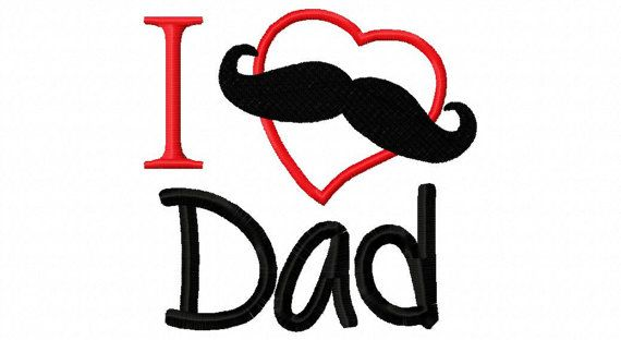 Fathers Day Embroidery Design  I Heart Dad I by sosassyembroidery, $2.50