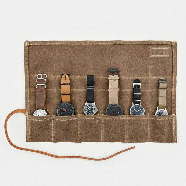 Bradley Mountain x Cool Material Waxed Canvas Watch Roll - $45