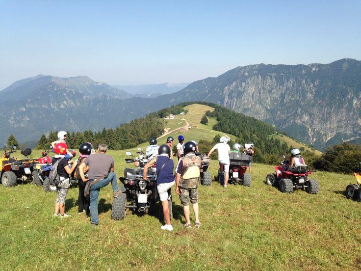 In cima al Monte Grappa in quad