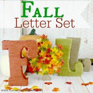 Home. Made. Interest. | Fall Decor Idea – Fall Letter Set | http://www.homemadeinterest.com
