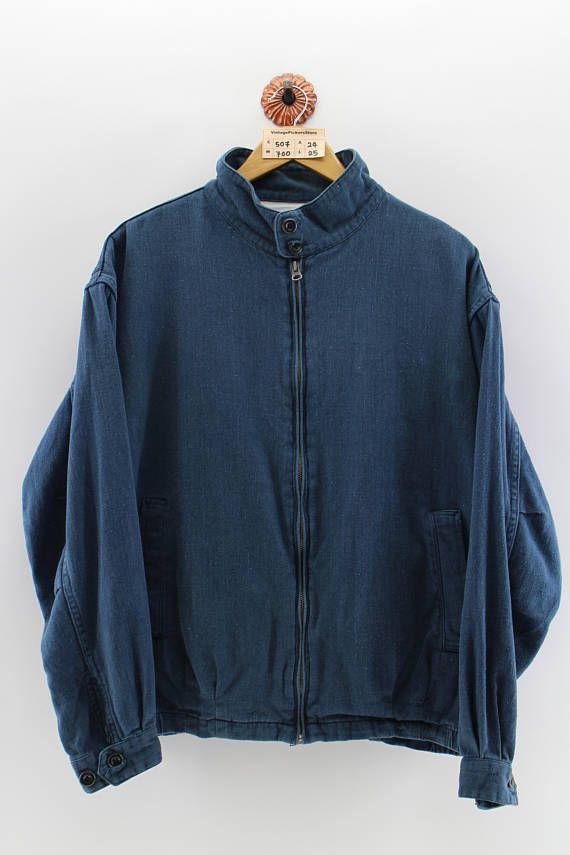 caebd10591a8 CHAPS RALPH LAUREN Denim Sweater Unisex Large Vintage 90 s Polo Ralph Lauren  Zipper Down Chaps Lauren Sportwear Blue Jumper Unisex Size L
