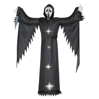 gemmy halloween illuminated ghost scream face airblown outdoor yard decor 6 new - Ebay Halloween Decorations