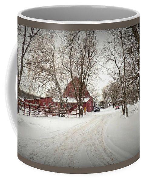 Winter On The Farm Coffee Mug by Leslie Montgomery.  Small (11 oz.)