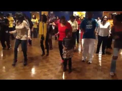 Line Dance Brunch with 7 year old Jalynn doing B'More Nation - YouTube This is the dance too know right now.  If this 7 year old can do it, you can too!
