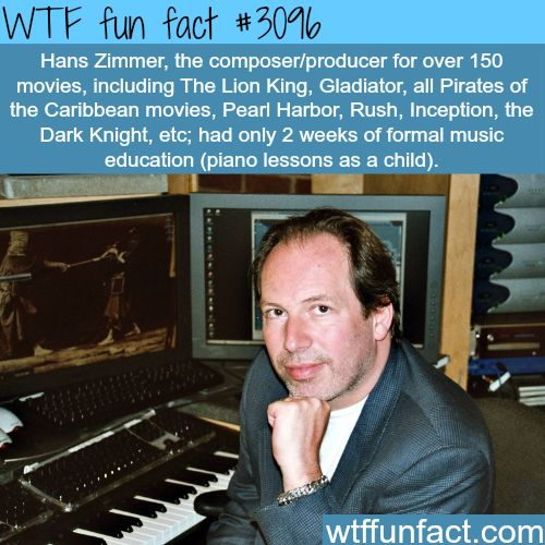 Hans Zimmer, the composer behind 150 movies -WTF...