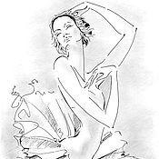 Картины и панно ручной работы. Ярмарка Мастеров - ручная работа Графика. Балерина. Белый лебедь. Авторская работа.. Handmade.