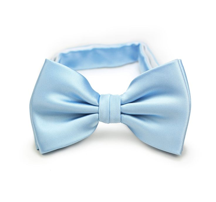 Pre tied bow tie - Woven Jacquard silk in solid light blue Notch zQAZNG5S9