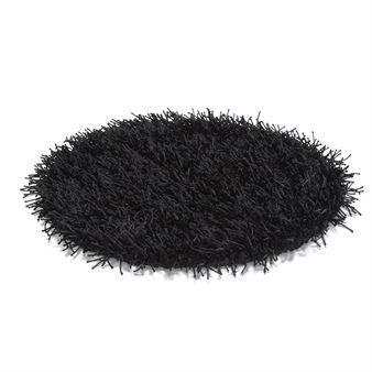 Metallic rundt teppe - svart - Etol Design