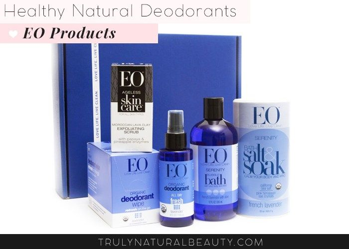 EO Products Natural Deodorant. Awesome list!! Ultimate guide to effective natural healthy organic nontoxic aluminum free deodorant.Please REPIN! <3 :)
