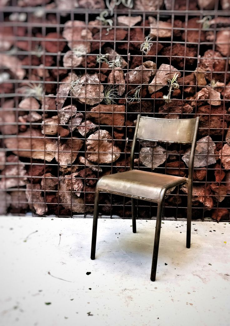 Sedia in ferro con finitura ossidata Stile Industriale di 30Atelier su Etsy