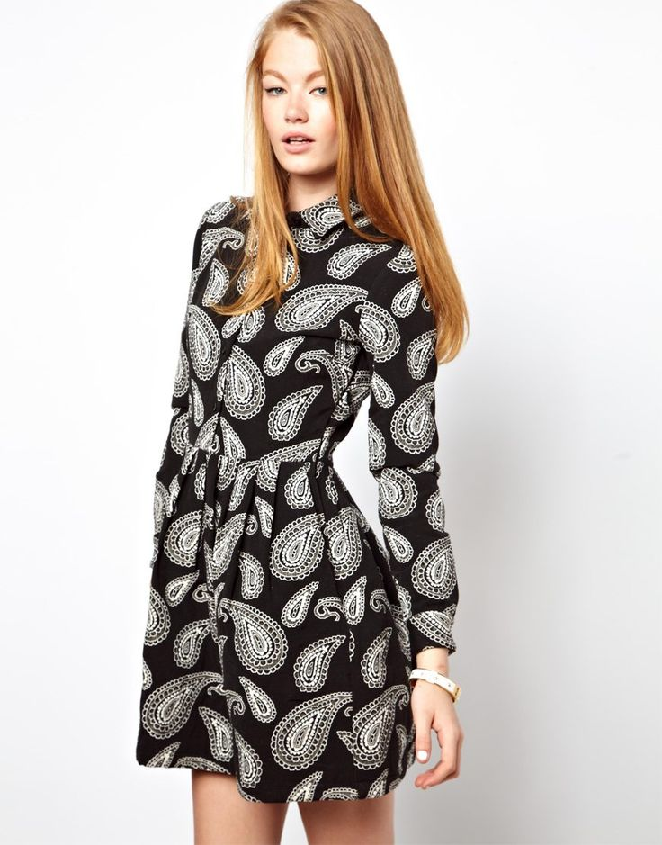 Paisley! This would be perfect with knee-high socks