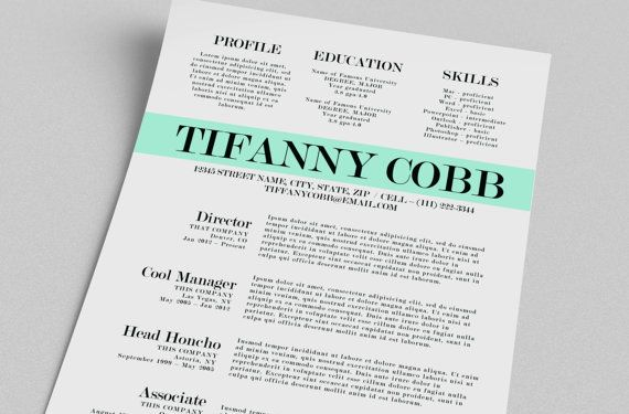 11 best Resume templates images on Pinterest Resume, Resume cv and