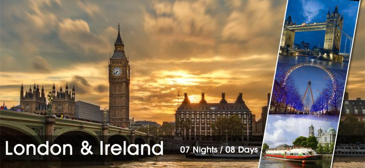 #LondonIrelandTours  #HolidayinLondon  #HolidayinIreland Book 07 Nights / 08 Days #HolidayPackages for London and Ireland 2015 from Delhi India, Visit Famous destinations in London and Ireland with our Budget Tour Package.