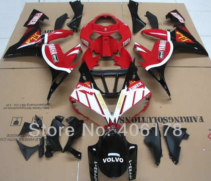 Hot Sales,Yzf1000 R1 04-06 fairing kit For Yamaha Yzf R1 2004-2006 Race Motorcycle VOLVO ABS Body kits (Injection molding) #Affiliate