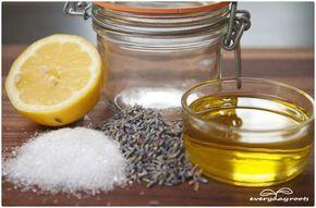 DYI... Simple Homemade Salt & Lemon Body Scrub