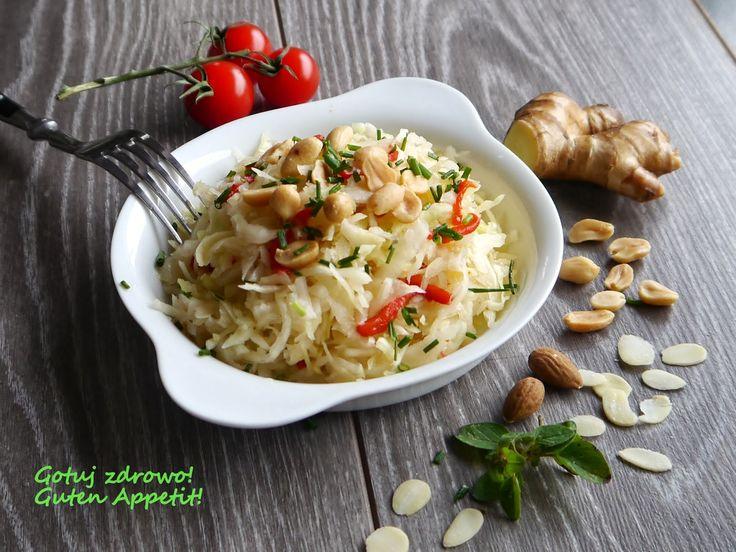 Gotuj zdrowo!Guten Appetit!: Surówka z białej kapusty na chiński sposób