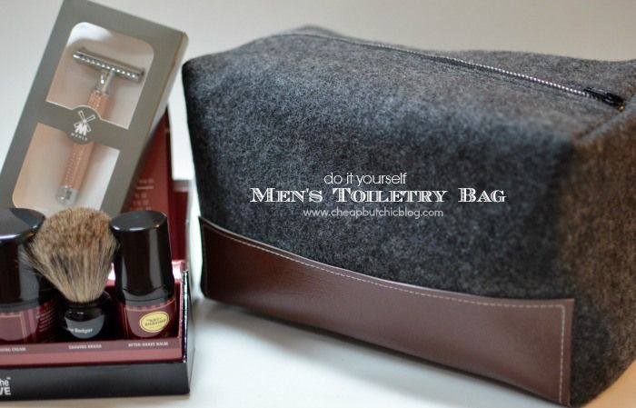 EASY DIY Toiletry Bag for your that special man in your life.