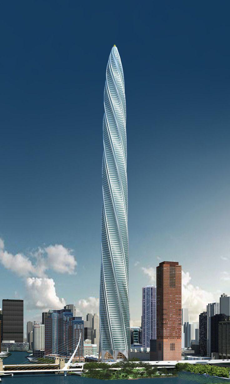 dubai landmark observation tower by santiago calatrava