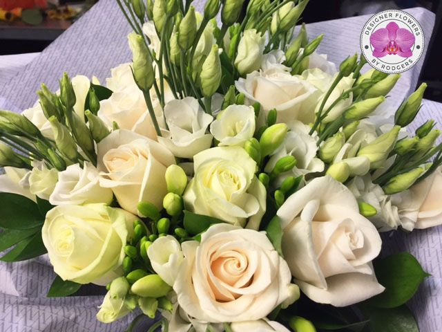 Vera Wang Purest Grace by Rodgers The Florist, Manchester.