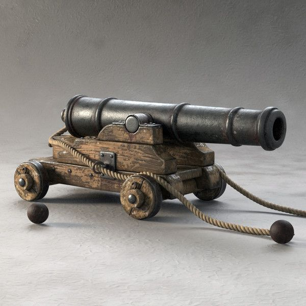pirates GUNS CANNONS      | 3ds max cannon pirate ship - Cannon Pirate Ship... by Tonzy911