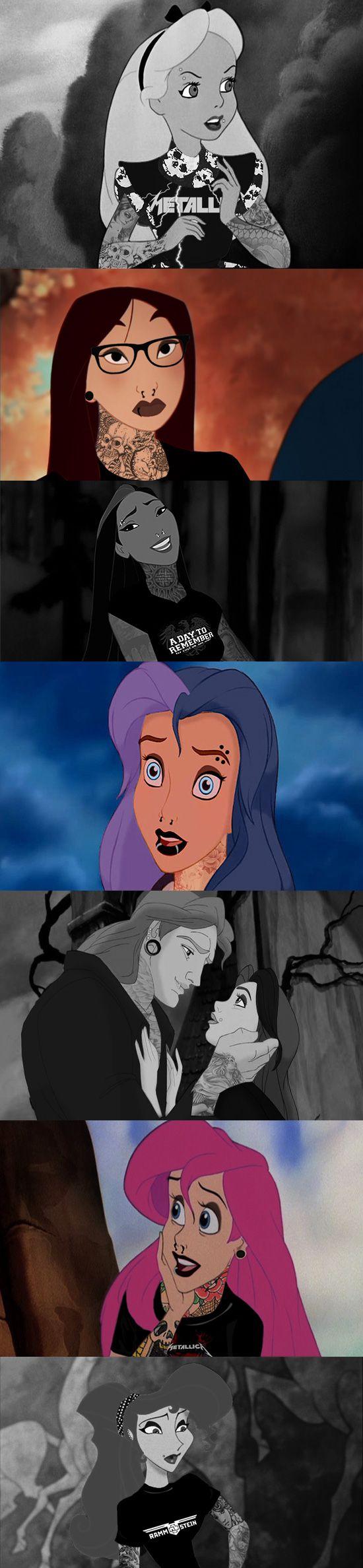 Et si les personnages de Disney étaient tous des métalleux ?