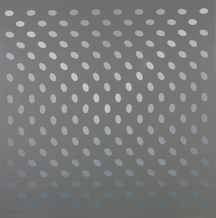 Bridget Riley, A - From Nineteen Greys (1968), at the Tate