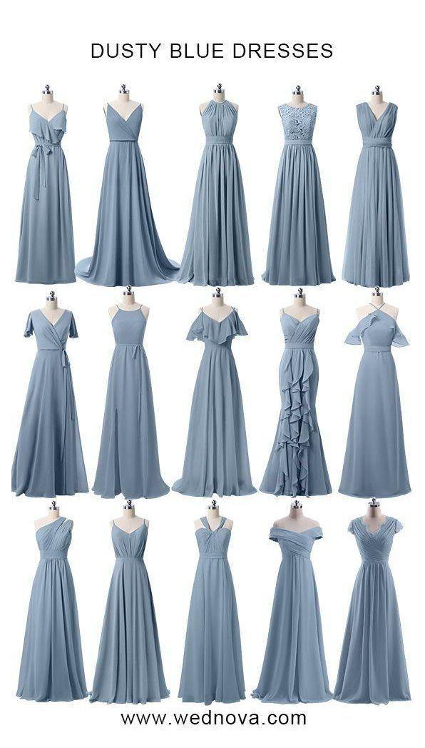 wednova dusty blue bridesmaid dresses under 100 for weddings