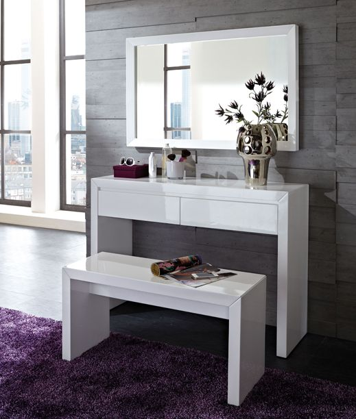 25 best white gloss dressing table ideas on pinterest for Console avec miroir