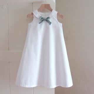 a-line dress + collar + bow