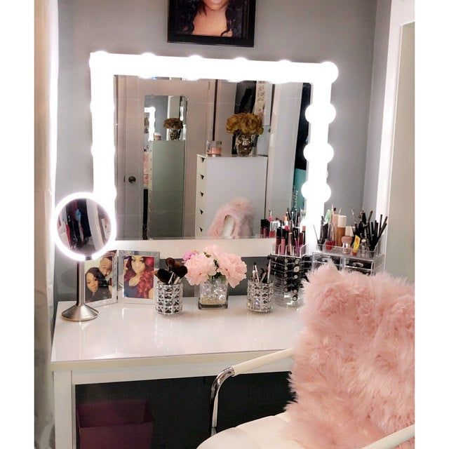Low Shipping Financing Vanity Mirror With Lights Etsy Hollywood Makeup Room Design