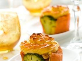 Картофельные запеканки с брокколи