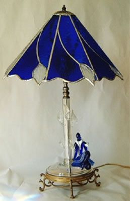 stained glass lamp images | custom designed lamp shades this unusual little lamp base had