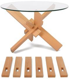 flat pack mechanical puzzle coffee table