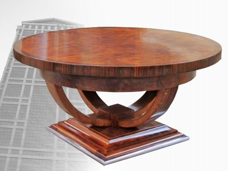 Art+Deco+Furniture | Art Deco Round Coffee Table, Art Deco Decor, Designer Furniture ...
