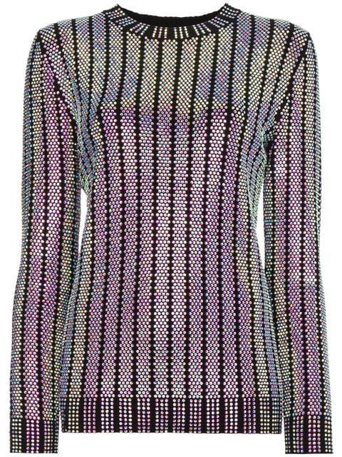 6d7102fede5 Gucci Crystal Embroidered Ribbed Knit Top - Farfetch