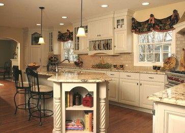 french country kitchen | French Country Kitchen with Angled Penninsula traditional kitchen