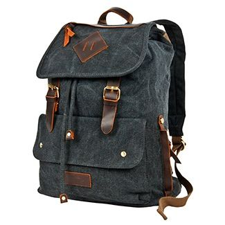Рюкзак брезентовый Polar П3063 черный