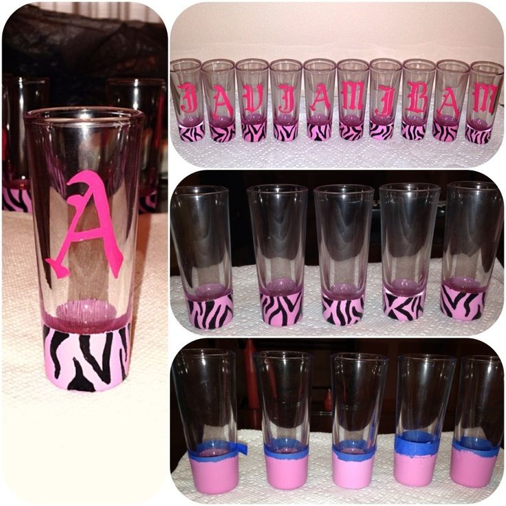 DIY shot glasses . Hand made glasses . Custom glasses ...