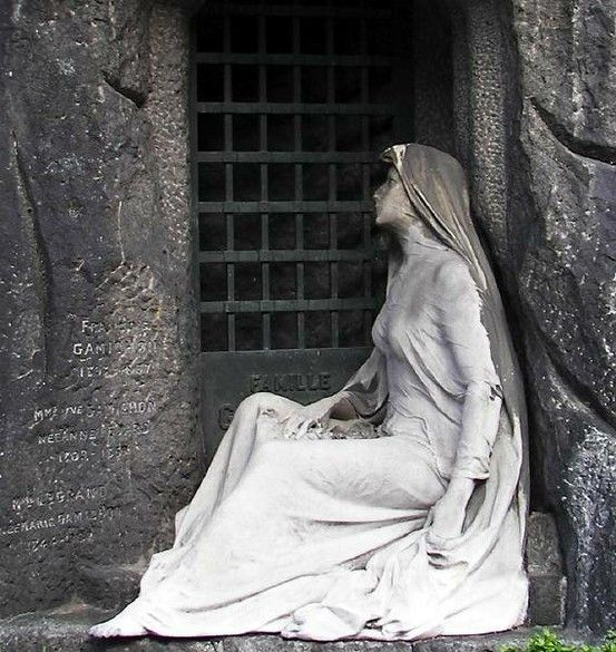 Pere Lachaise Paris Cemetery--I wish I had had another day in France, so that I could have seen this cemetery.  So many famous people are buried there and the  tombstone monuments make one feel that one is in a museum as opposed to a cemetery.