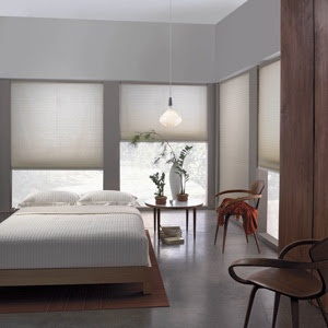 Simple and effective window shades in this contemporary #bedroom