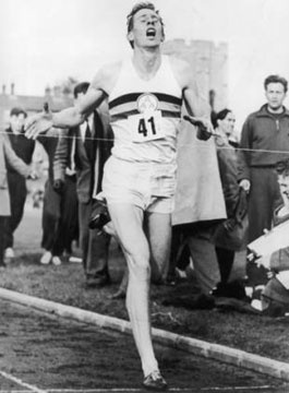 Roger Bannister 1st to break the sub 4 mile that experts thought would be impossible. Afterwards over 300 broke it in less than ten years.